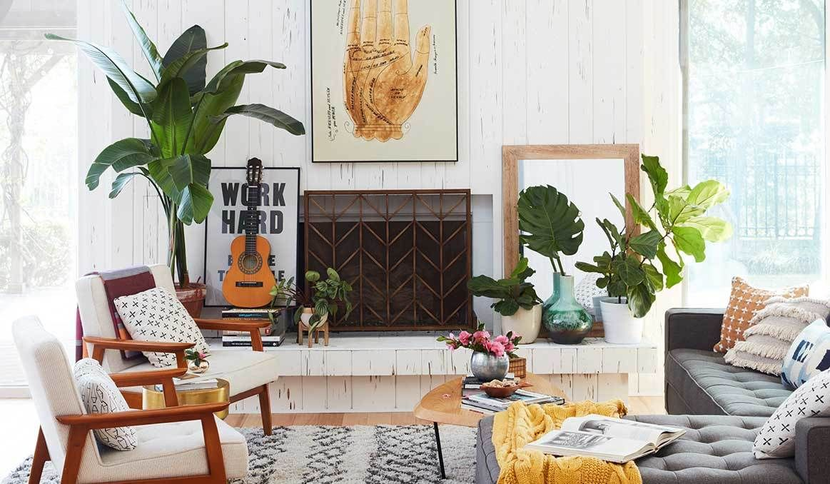 Southwestern Inspired Finds That Capture Desert Style Mid Century Modern Living Room Home Decor Inspiration Mid Century Living Room #southwestern #living #room #ideas