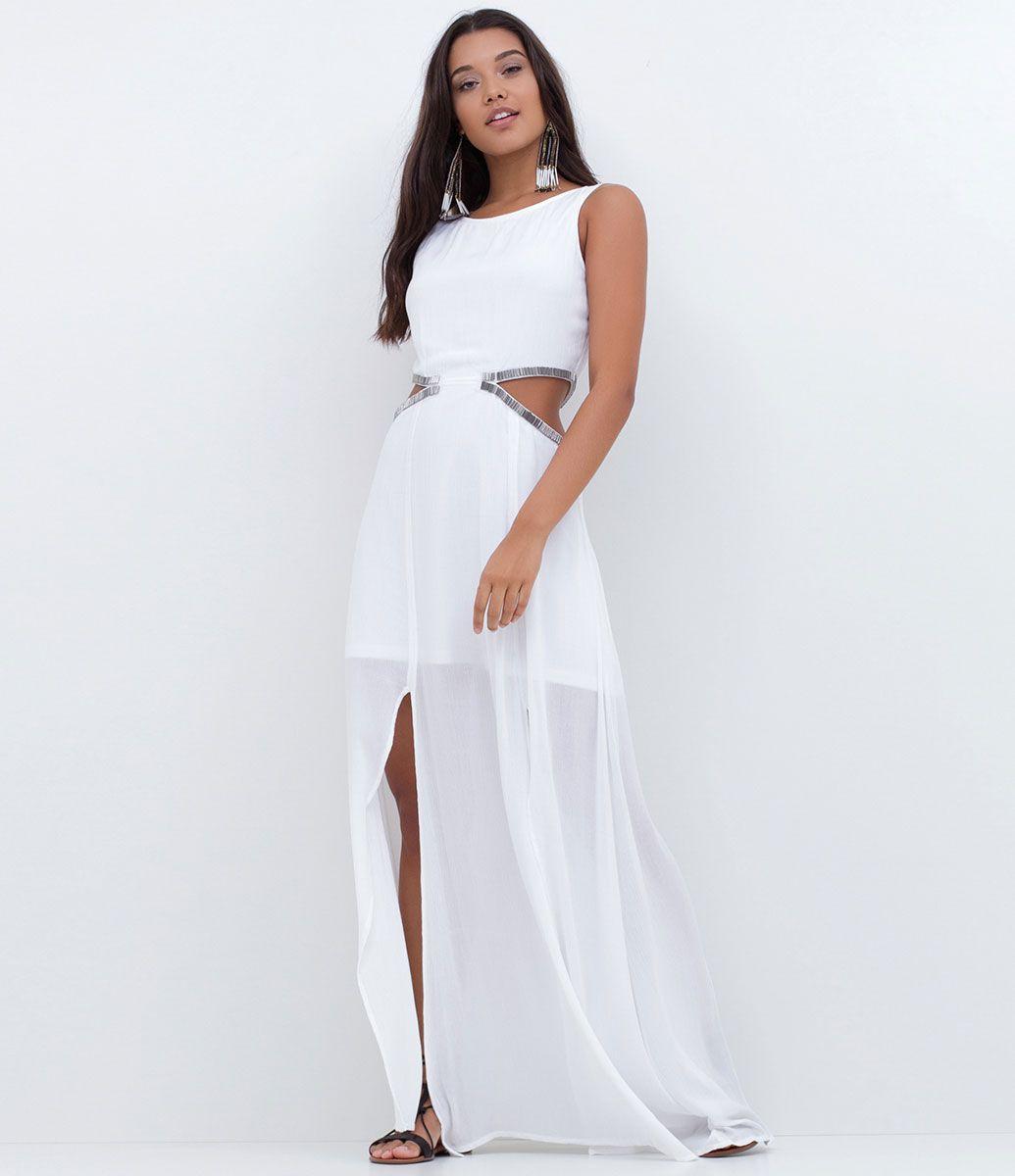 Sonhar com um vestido branco longo