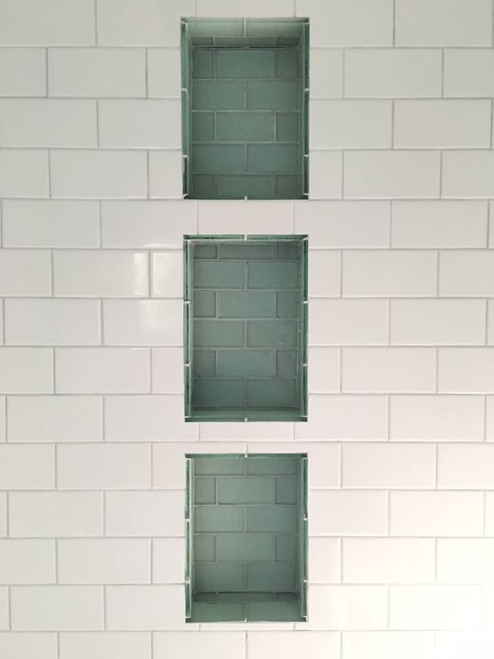 Completed Jobs Tileforless Look At These Fabulous Subway Tile Niches Created With 4x10 Bri