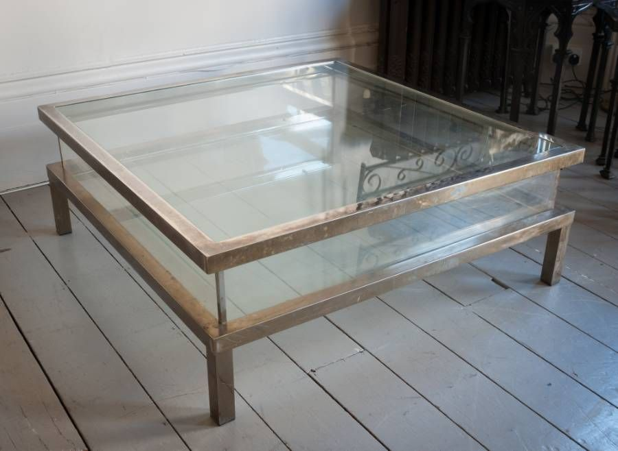 Coffee Tables Design, Short Big Large Square Glass Coffee ...