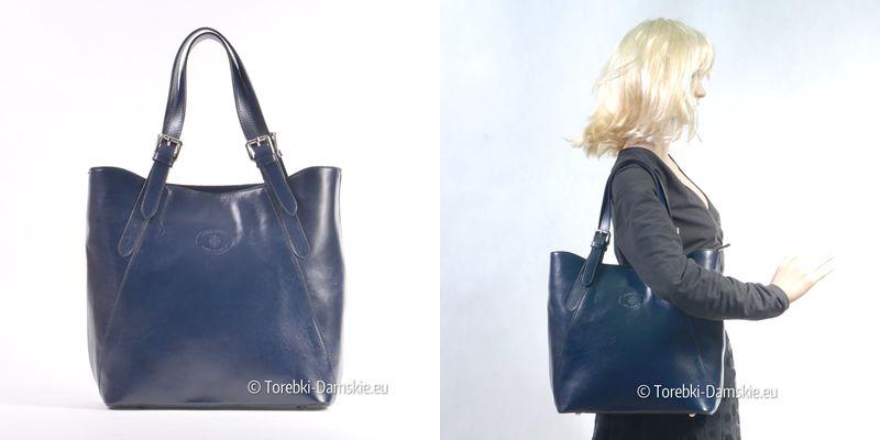 f8c17cb2ada29 Granatowa włoska torebka z nowej kolekcji. Więcej zdjęć pod adresem http    torebki