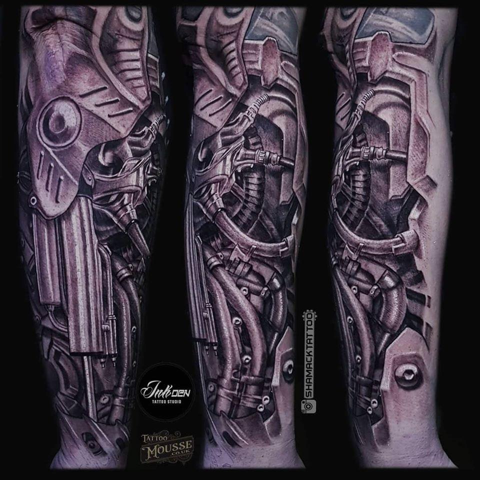 Biomechanical Forearm Piece Done By Shamack