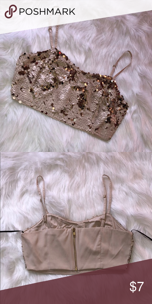 9199485959d8cd Forever 21 Size M Sequin Crop Top Bralette Purchased at Forever 21