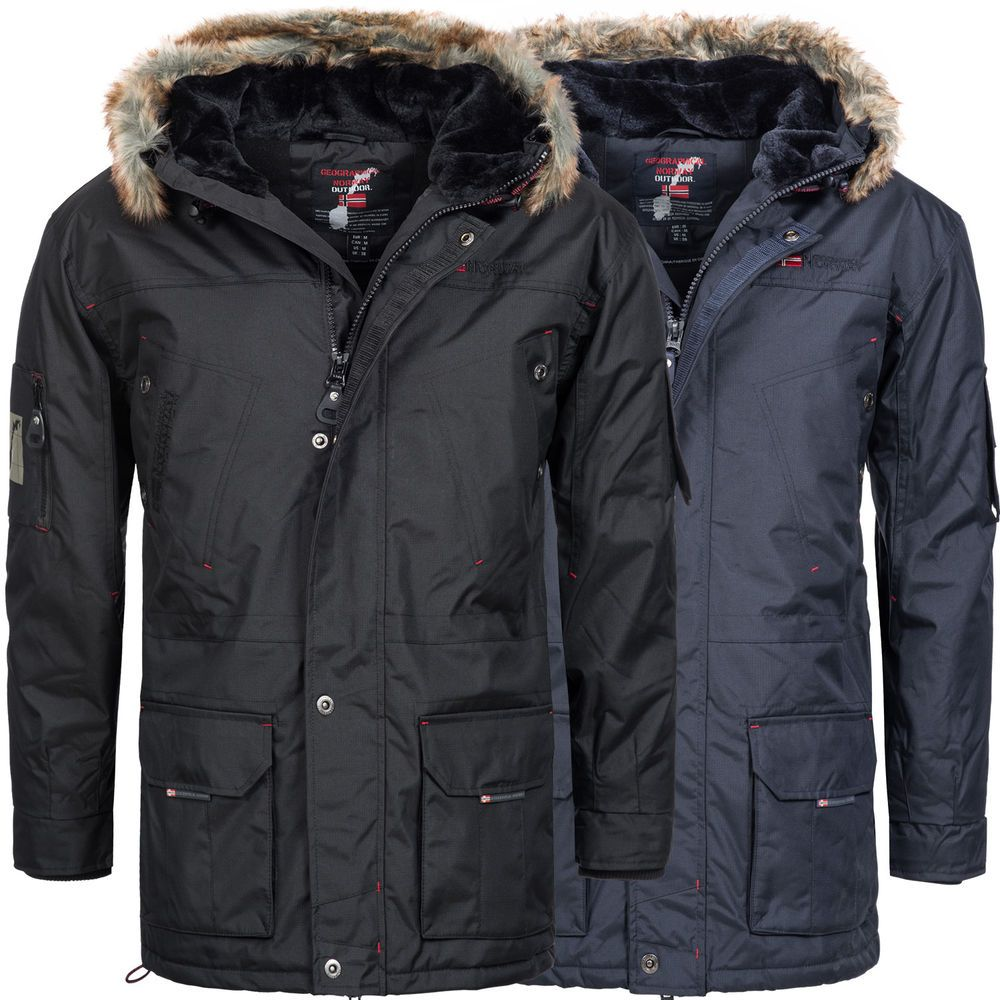 geographical norway alaska herren winterjacke winter parka jacke wasserabweisend geographical. Black Bedroom Furniture Sets. Home Design Ideas