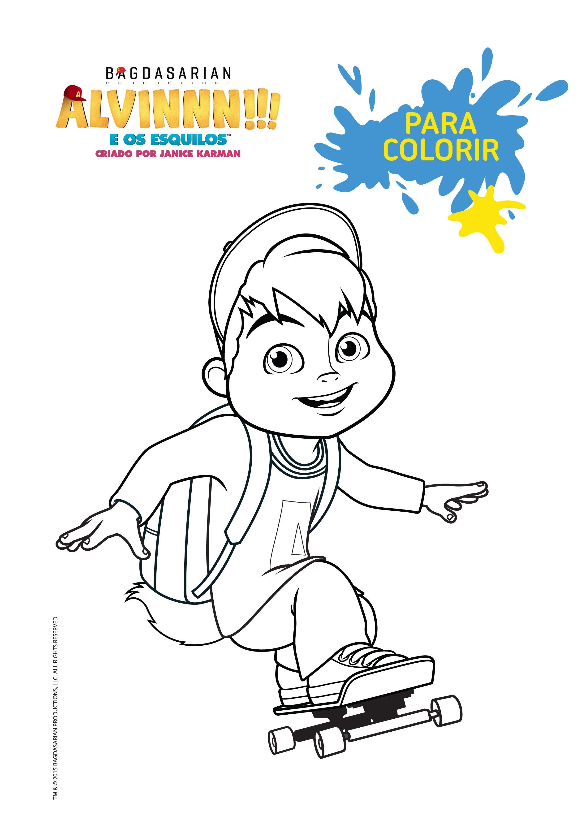 9c98d231e09  Para Colorir  Alvin Em Cores - Atividades - Alvinnn!!! e os Esquilos - Mundo  Gloob