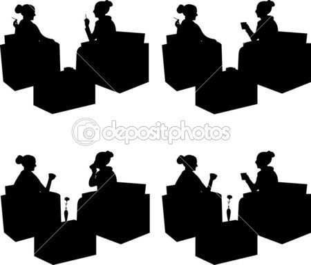 Cafe Tables Silhouette Google Search