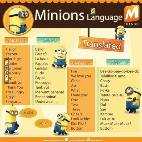 Learn the Minions language!