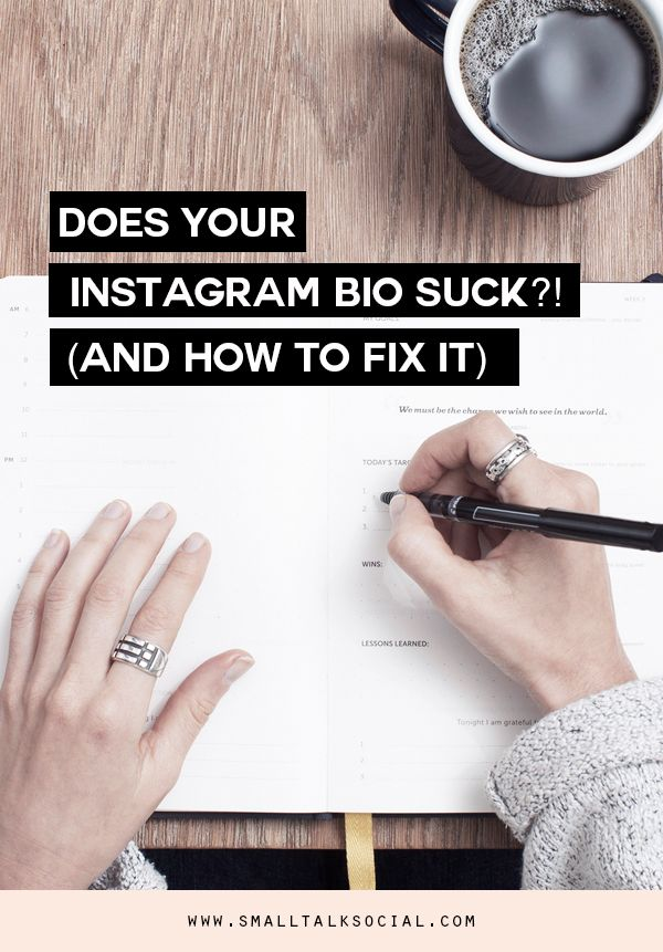 Does your Instagram bio say all the wrong things?! Learn what your Instagram bio actually needs to help you connect with your target audience!