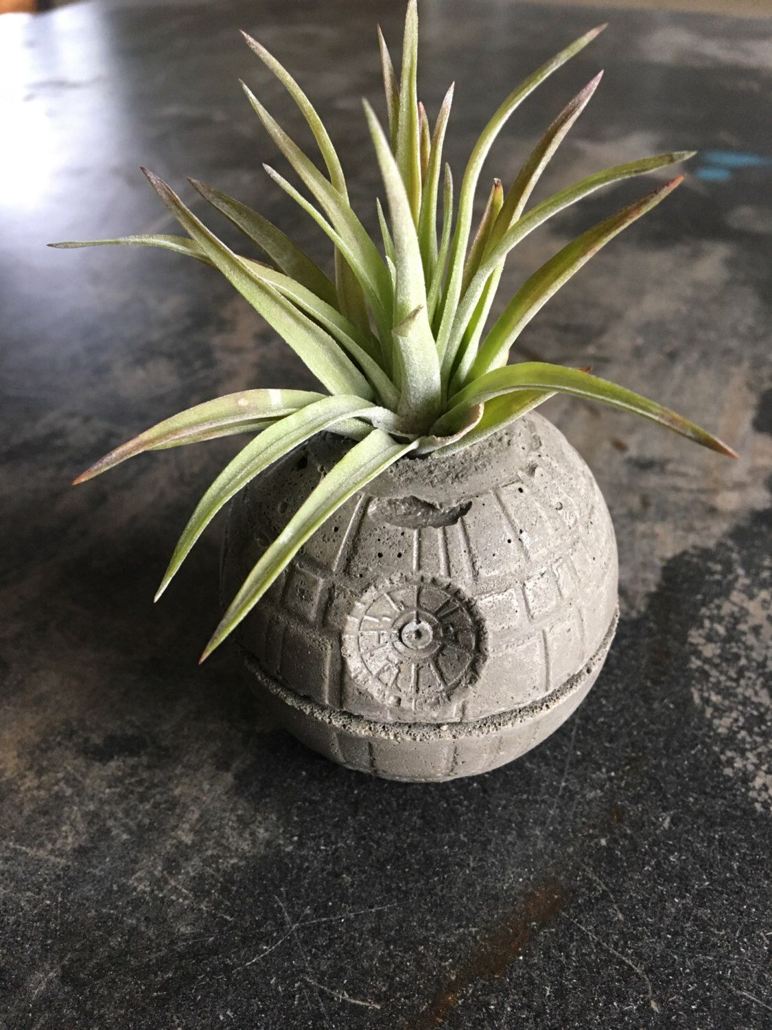 Merveilleux Small Death Star Concrete Planter   Single Planter   Includes Air PLant   Star  Wars   Office Decor By AnsonDesign On Etsy ...