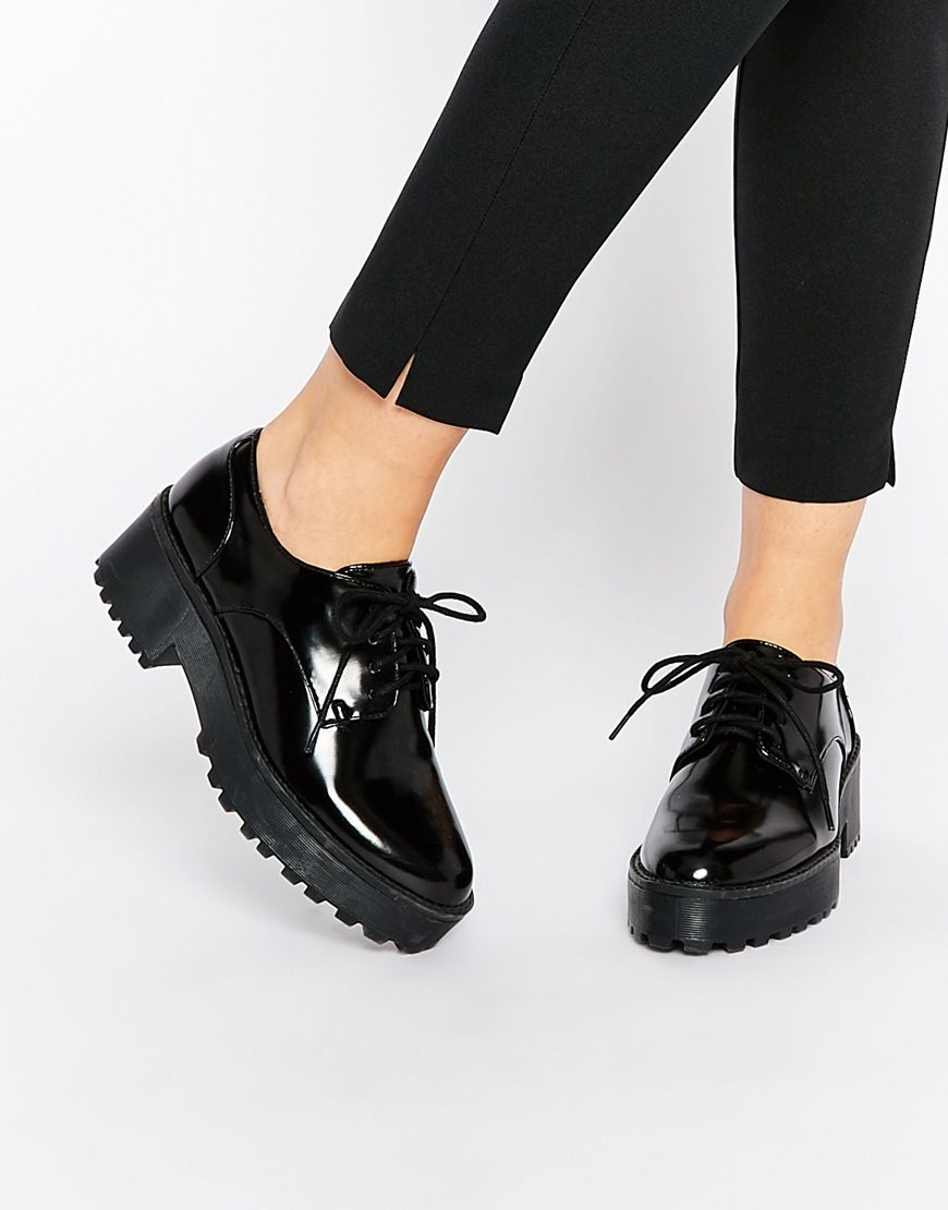7ed50bdc7b2 Image 1 of Monki Chunky Sole Lace Up Shoes