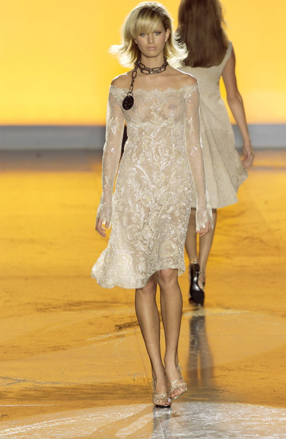 Valentino at Couture Spring 2002 -lose the chain, add something underneath and gorgeous!!