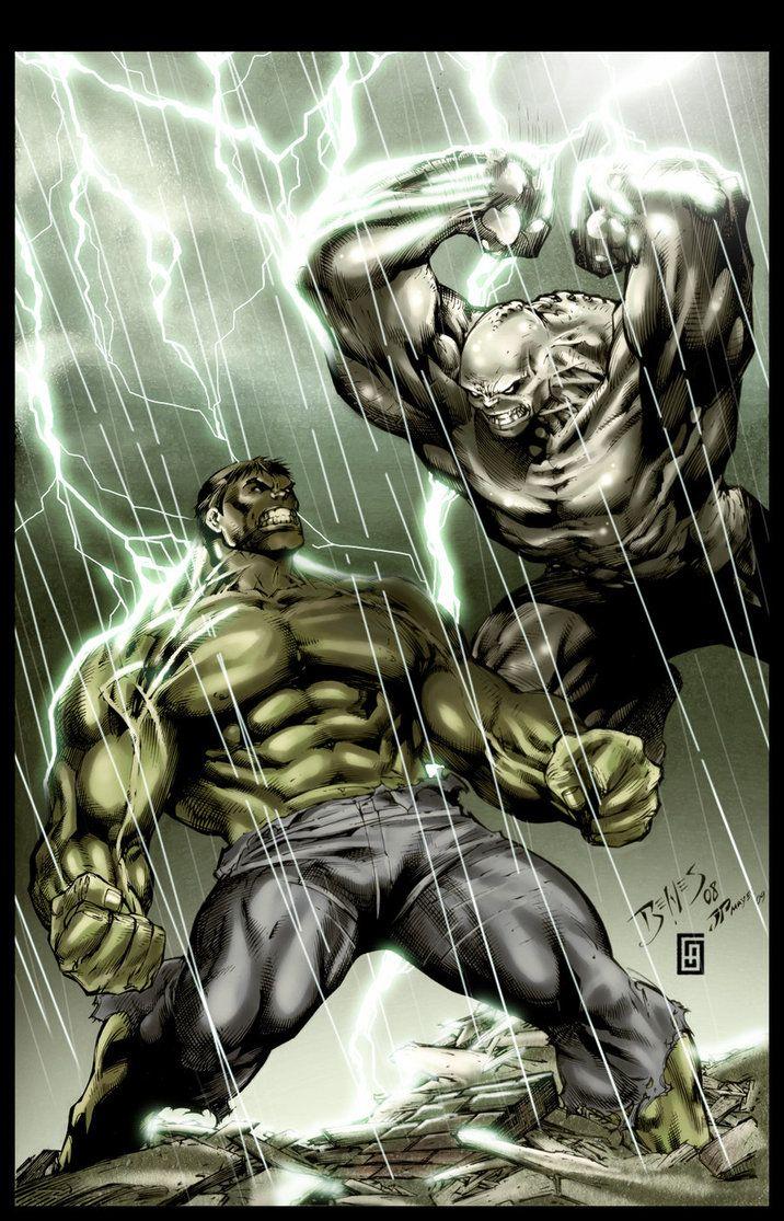 The Hulk vs. The Abomination | Artist: Ed Benes