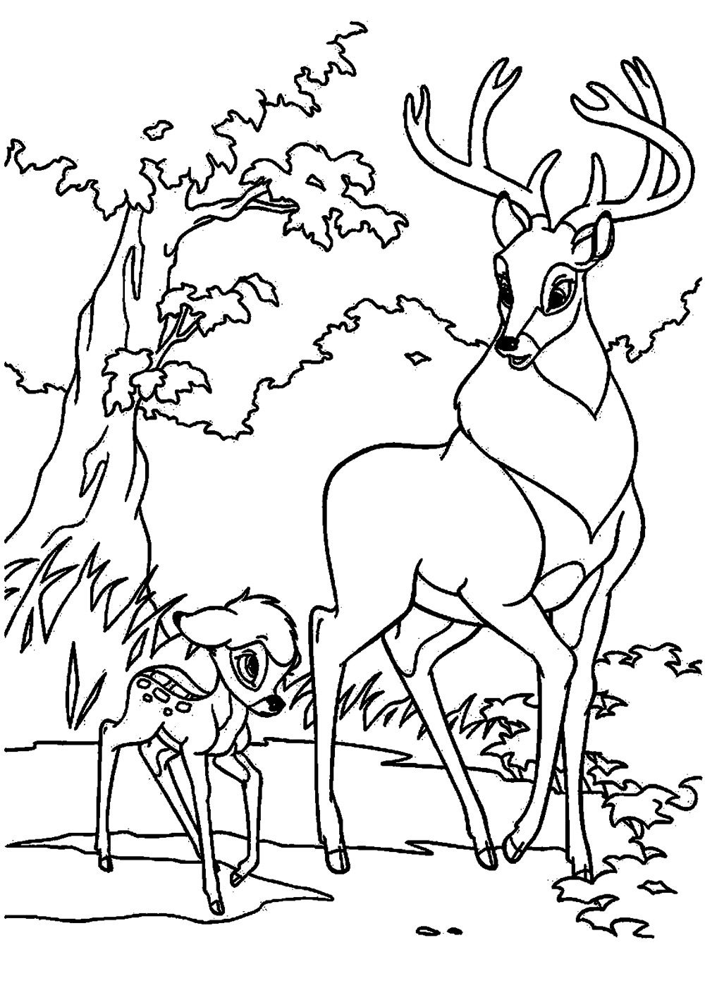 Bambi Uns Both With The Great Prince Of Forest
