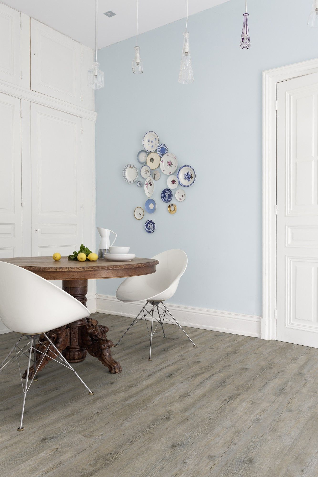 Pvc vloer met houtlook. Grey pecan XL (Limited edition) Zelfklevende ...