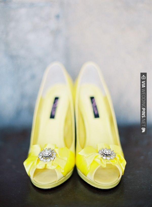 Yellow shoes make everybody happy. | Yellow wedding shoes ...
