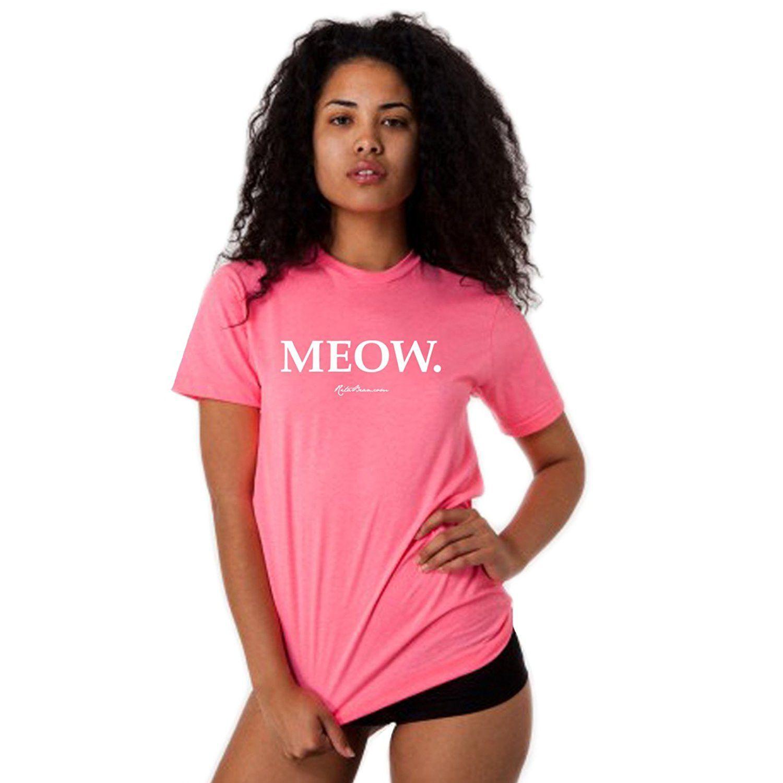 Meow T-Shirt (Unisex) - Neon Heather Pink
