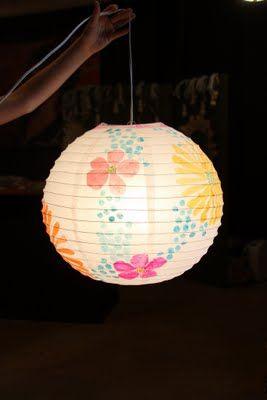 Crafty Night April 2011 Chinese Lanterns Diy Crafty Chinese