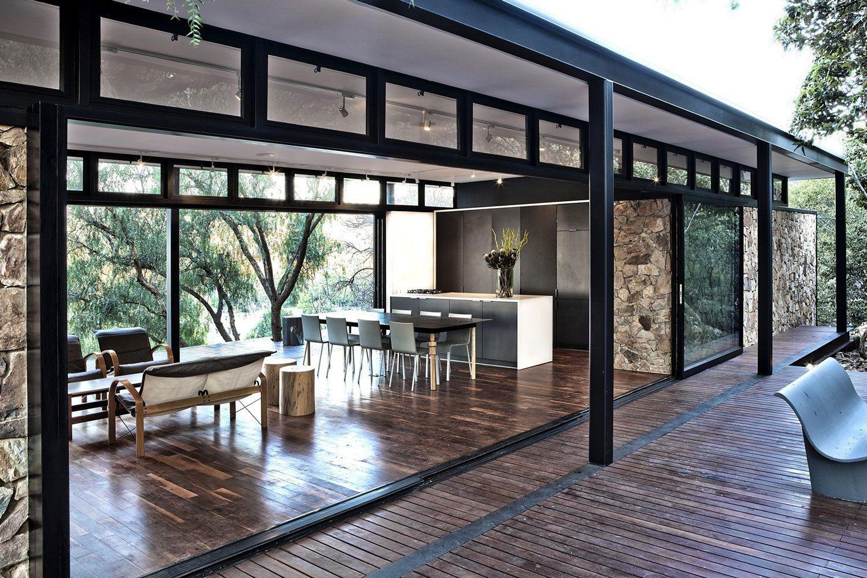 Moderna Casa De Campo Con Estructura Acero Casas Con Estructura