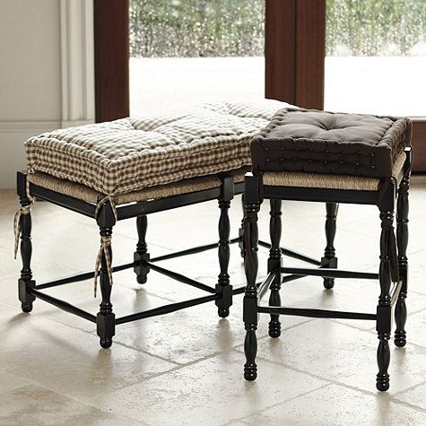Ballard Essential Farmhouse Cushions Farmhouse Stools Stool Cushion Chairs For Rent