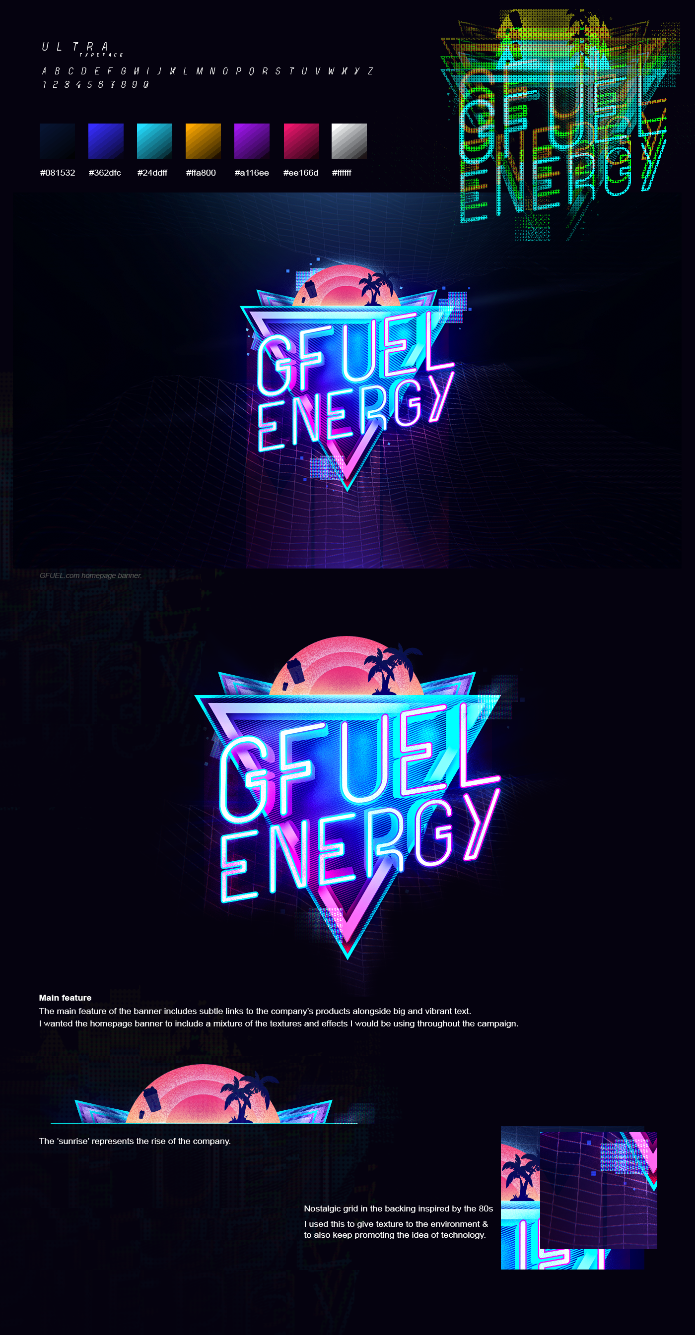 Check Out This Behance Project Gfuel Energy Neon Neon Design Neon Logo