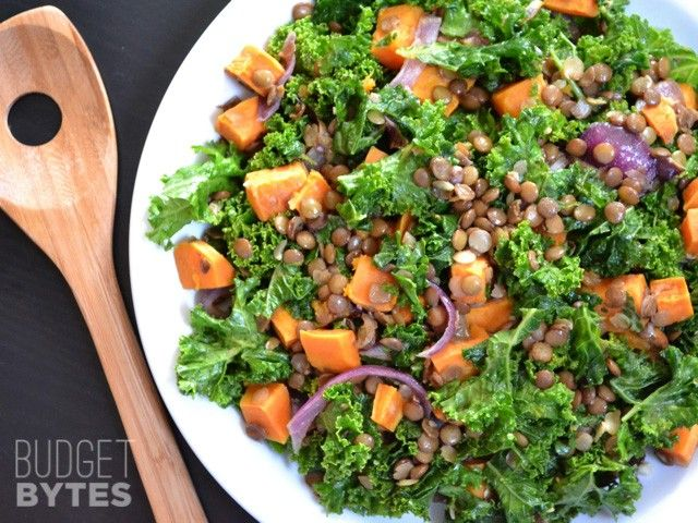 This salad has everything you need in one bowl - greens, beans, and vegetables. Serve it as a side or a larger portion for a hearty vegan meal.