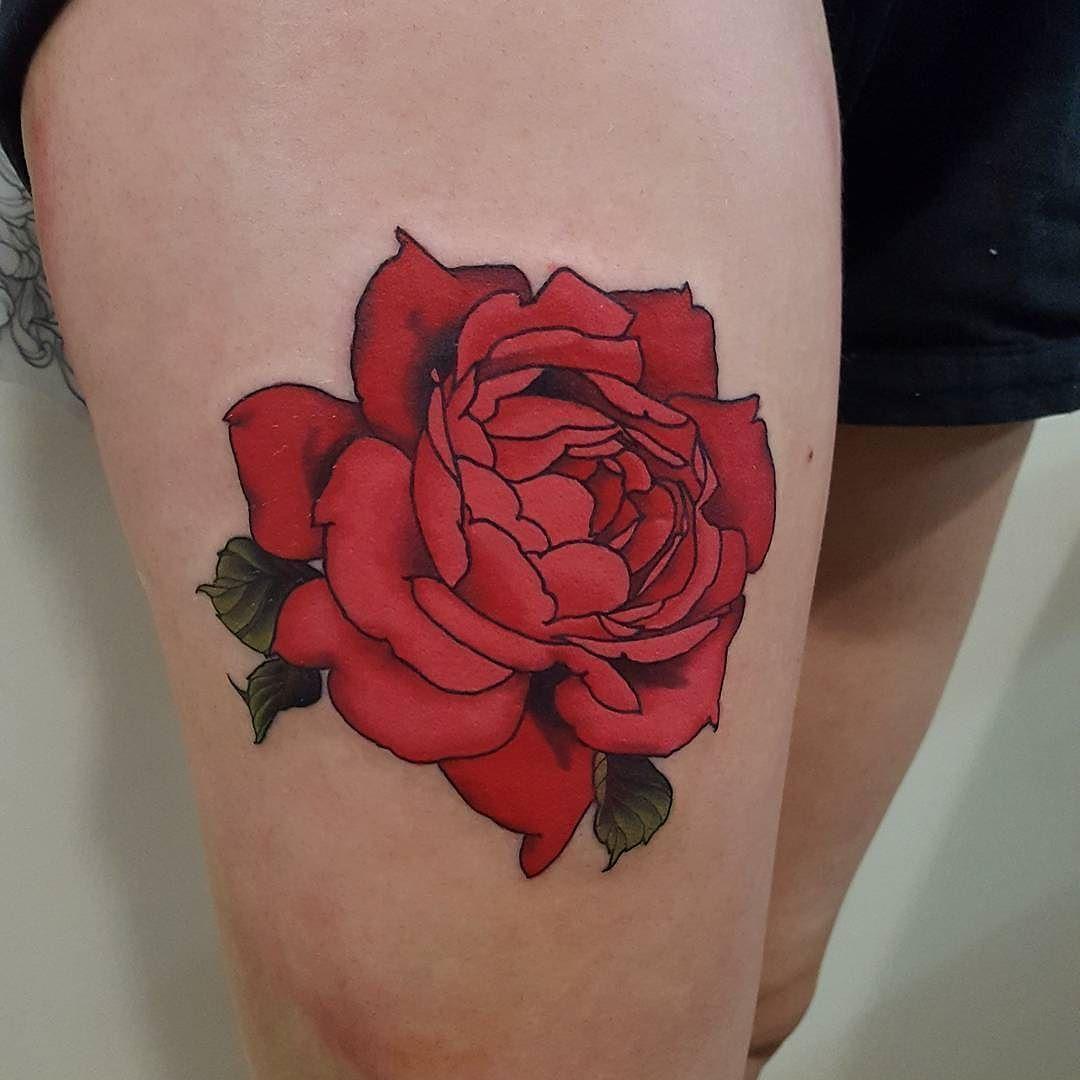 English Rose Tattoo By Filthytattooart At Black Cat Tattoo In Auckland Nz Filthytattooart Currarwhithamfield English Rose Tattoos Body Art Tattoos Tattoos