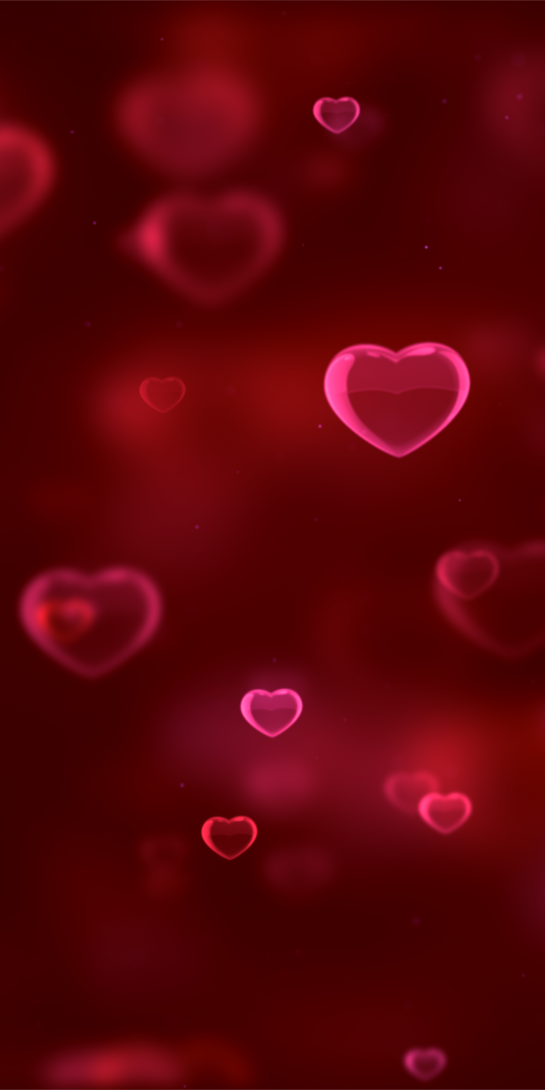 Love Red Hearts Girly Pink Blur 1080x2160 Wallpaper In