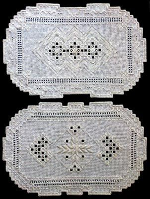 Hardanger Tray Liners Doilies