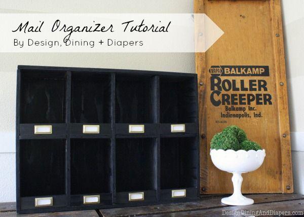 Vintage Inspired Mail Organizer Tutorial