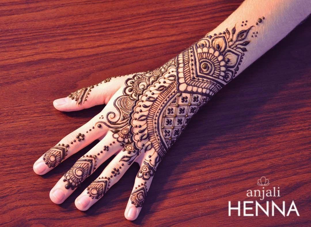 Inai Party Mehndi Red Cone : Arabic mehndi designs latest style design
