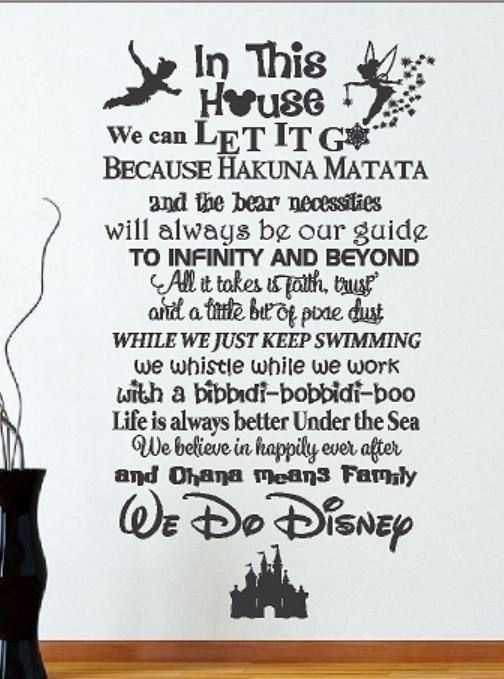 We Do Disney Wall Decal In This House Disney House Rules Etsy Disney Wall Decals Disney Wall Disney Family Rules