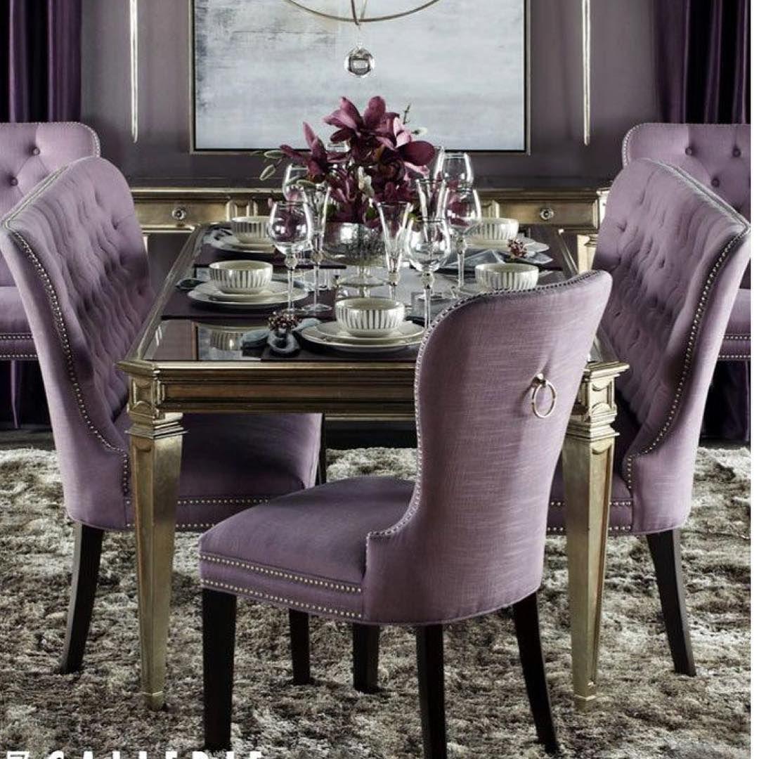 Mutlu Bir Haftasonu Gecirmenizi Dileriz Sandalye Agmsandalye Berjer Koltuk Puf Masa Sehpa Zigon Purple Dining Room Home Decor Dining Room Inspiration