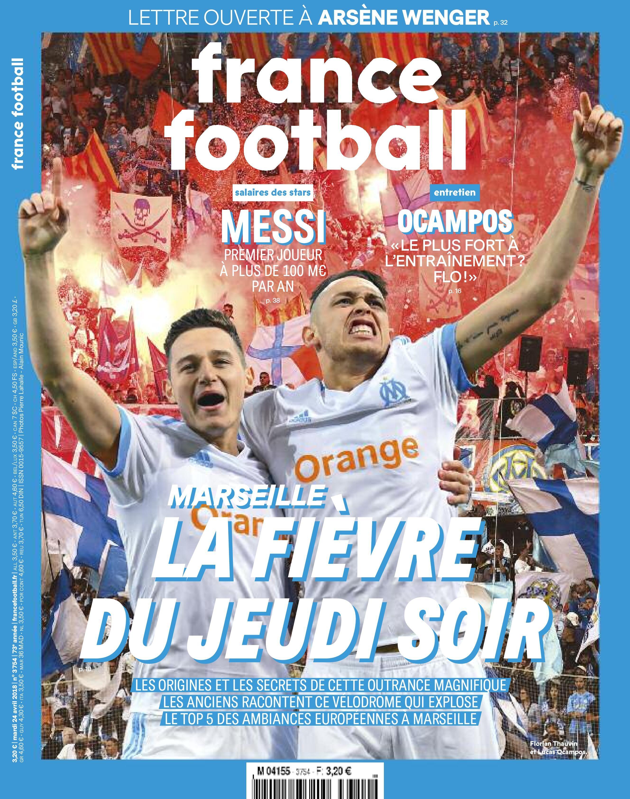 L'OM fada d'Europe à la une de France Football Médias