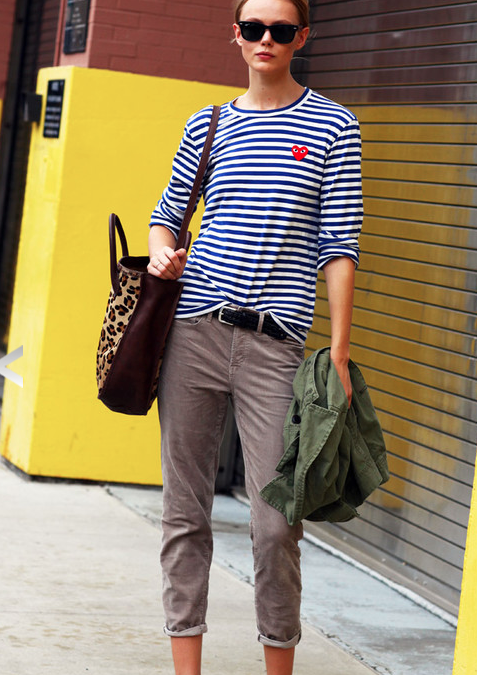 buy SPORTY STRIPES now for fall. they will still be on-trend for spring!