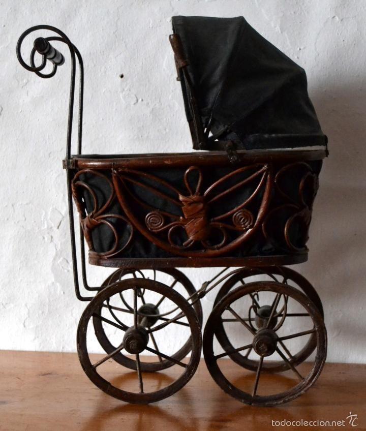 Cochecito Carrito Cuna Para Bebe Antiguo Vintage. No Juguete