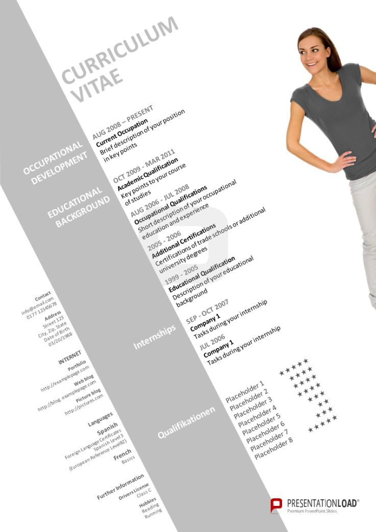 Powerpoint Cv Use Our Modern Cv Template In Order To Give Your