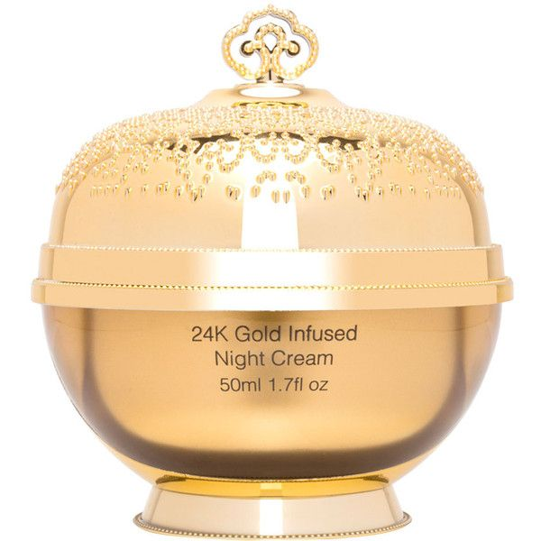 Le Royal 24k Luxury 24k Gold Infused Night Cream 29 Liked On Polyvore Featuring Beauty Products Collagen Moisturizer Night Face Cream Anti Aging Collagen