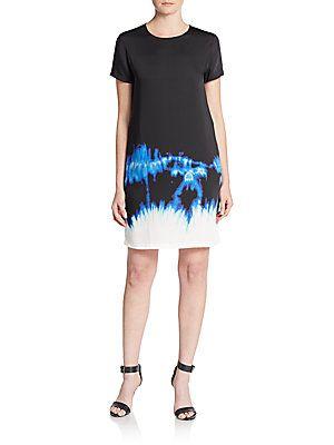 Vince Short Sleeve Dress - Dark Indigo - Size 0