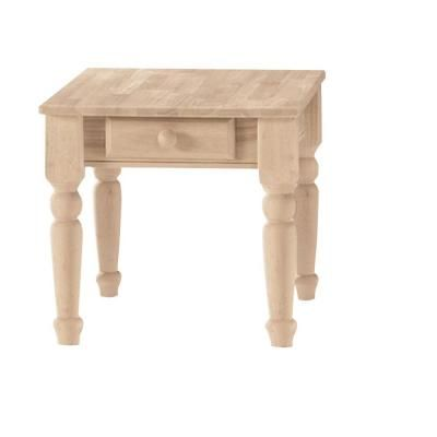 International Concepts Traditional End Table with Drawer