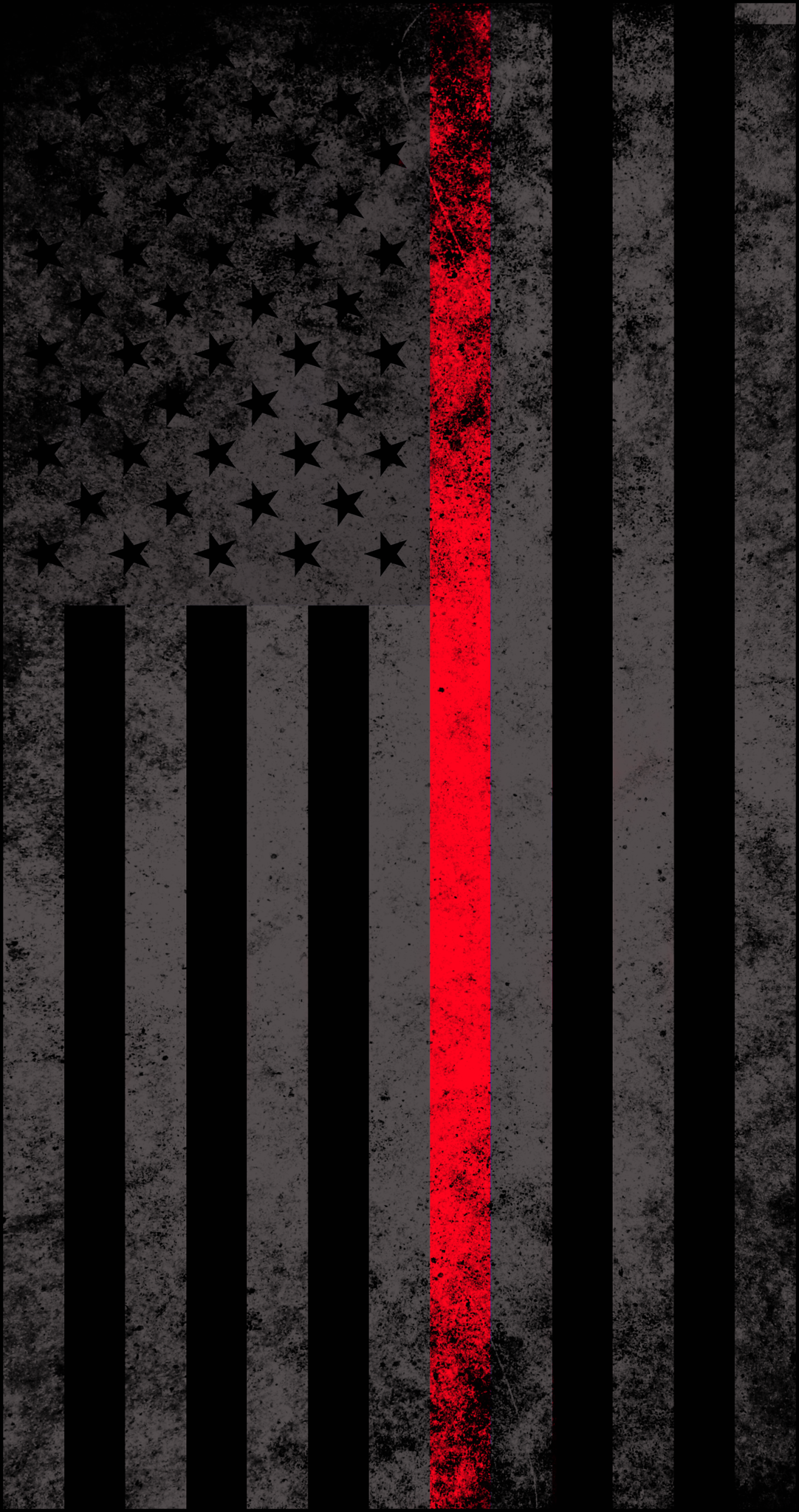 American subdued thin red line flag decal