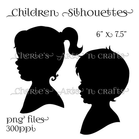Silhouettes Instant Download PNG Graphics by CheriesArtsnCrafts