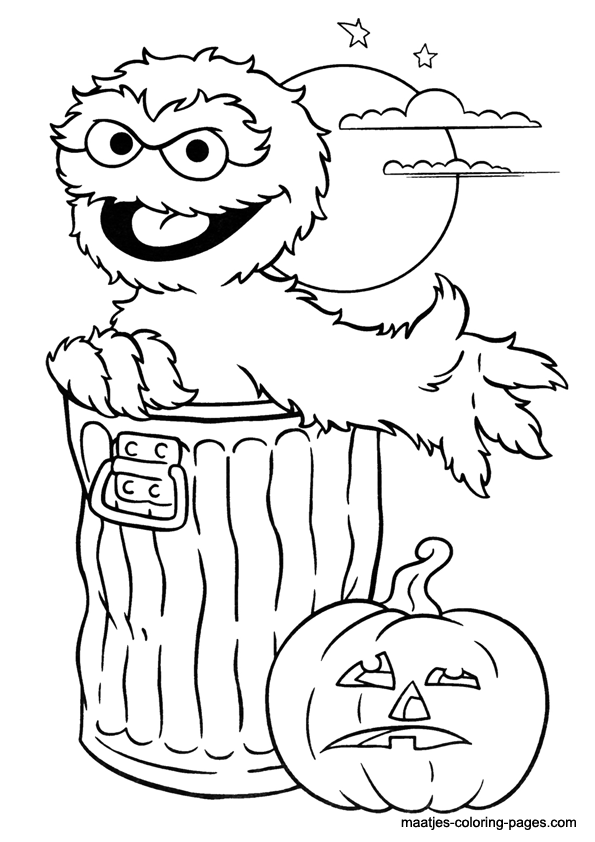 Oscar the Grouch Halloween coloring page. | the muppets | Pinterest ...