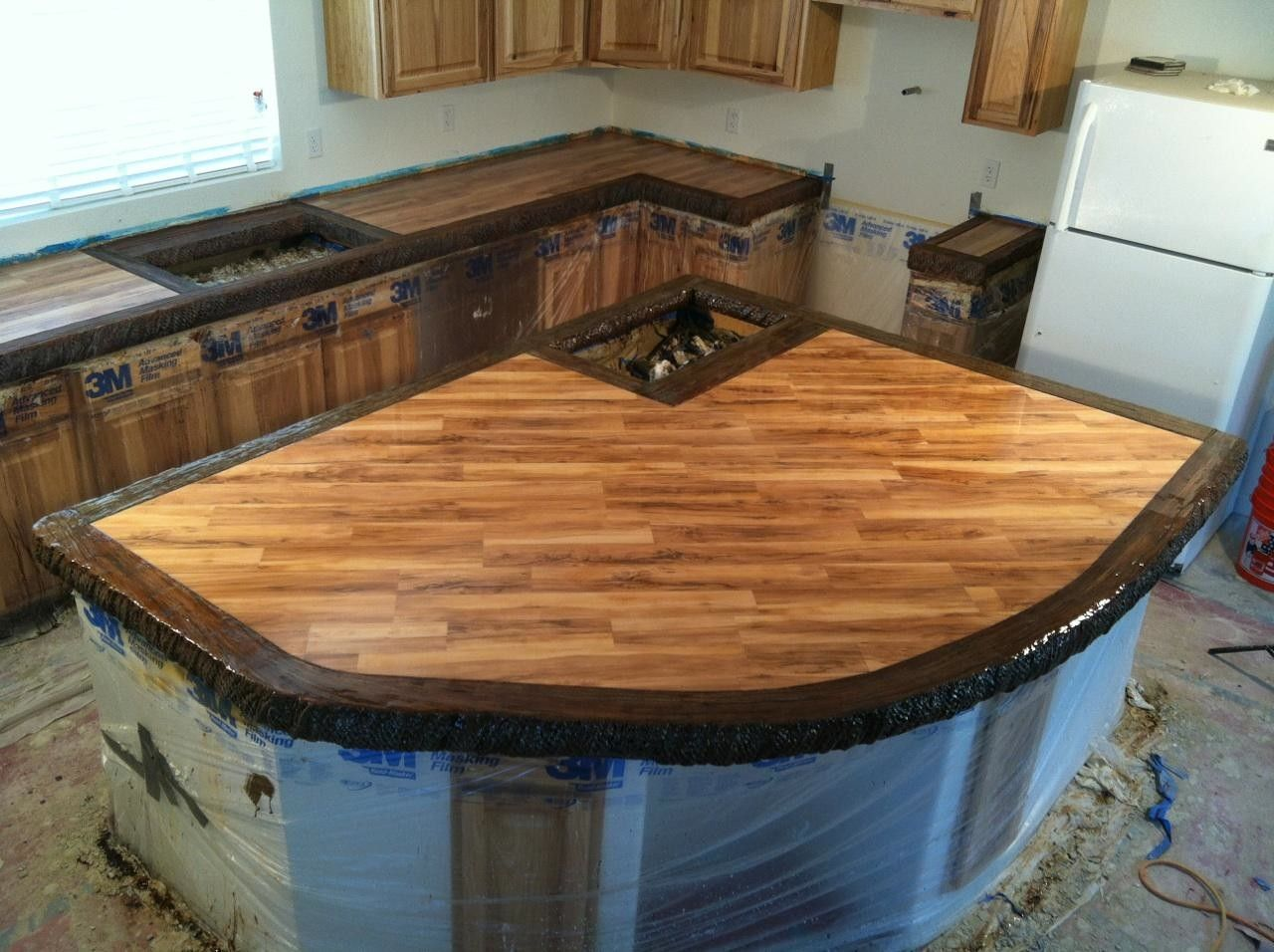 Stamped Concrete Kitchen Countertops