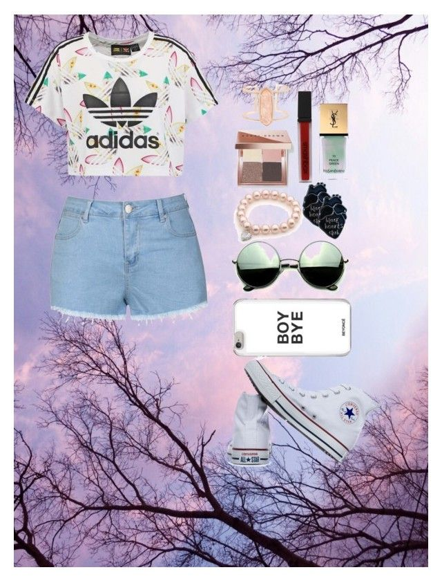 """""""style setter"""" by sheo-fashion on Polyvore featuring adidas Originals, Ally Fashion, Converse, Revo, Bobbi Brown Cosmetics, Smashbox, Yves Saint Laurent and Kendra Scott"""