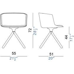 Photo of Lapalma Cut Sessel komplett gepolstert Kreuzfuß Holz schwarz gebeizt offenporig Stoff Gabriel Swing