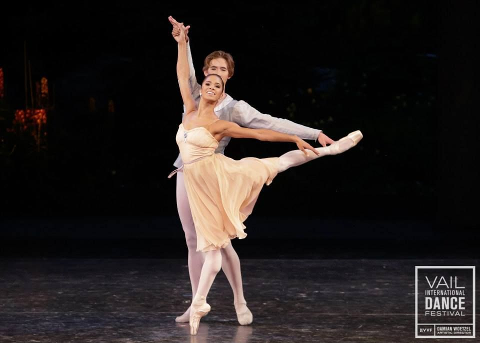 Misty Copeland  Joseph Gordon perform Balanchine\u0027s Tschaikovsky Pas