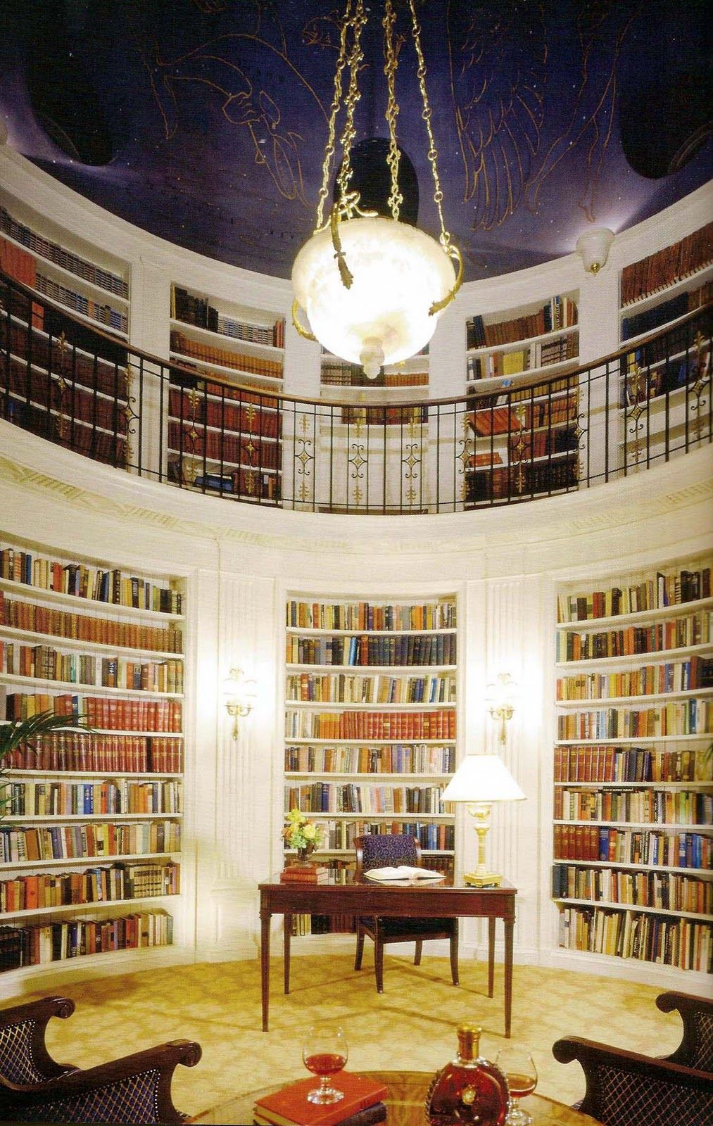 Library in the penthouse suite of the Fairmont Hotel in San Francisco   Picture of Elegance. Library in the penthouse suite of the Fairmont Hotel in San