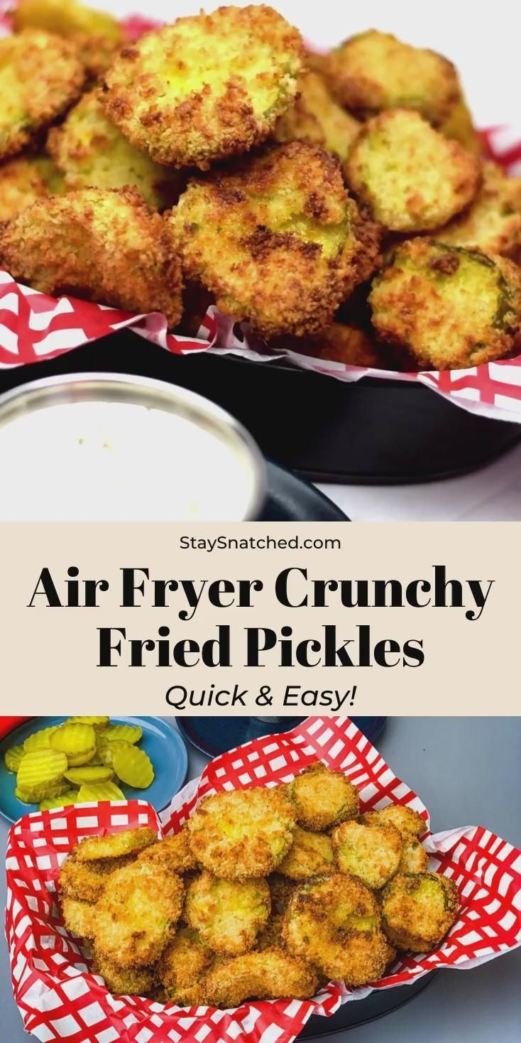 Easy, Air Fryer Crunchy Fried Pickles in 2020 Air fryer