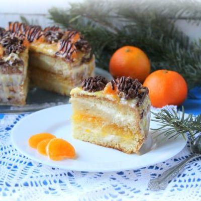 Новогодний мандариновый торт   Рецепт   Мандариновый торт ...