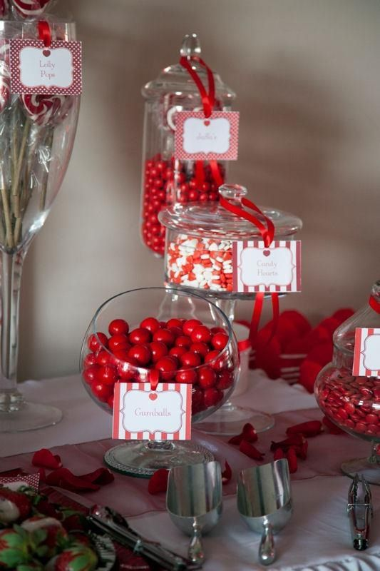 Red And White Candy Buffet White Candy Buffet Candy Buffet Wedding Silver Wedding Decorations